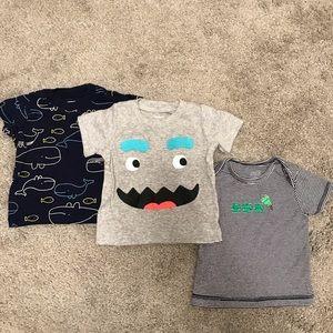 3 x Baby Boy T-Shirts (6-9 months)
